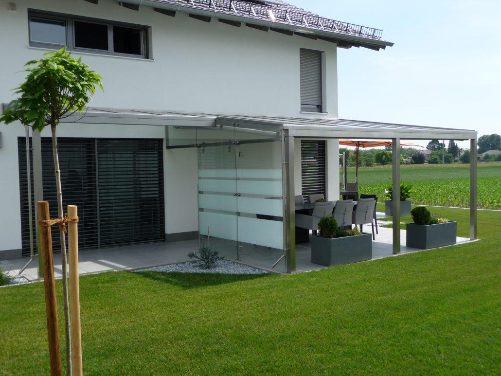 Terrassenuberdachungen Aus Edelstahl Und Glas Mmt Inox Gmbh